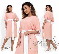 Женское платье свободного кроя Штапель Размер 48 50 52 54 56 58 В наличии 3 цвета, фото 1