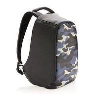 "Рюкзак антивор XD Design Bobby Compact Print 14"" Camouflage Blue, фото 1"