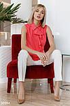Блуза без рукавов с воланом коралловая, фото 2