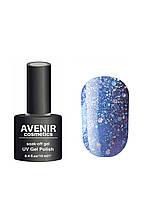 Гель-лак AVENIR Cosmetics №113. Синий с шимерами и блестками