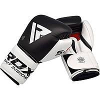 Гелевые Боксерские перчатки RDX Pro Gel S5 10, 12, 14, 16 унций тренировочные, кожаные перчатки для бокса