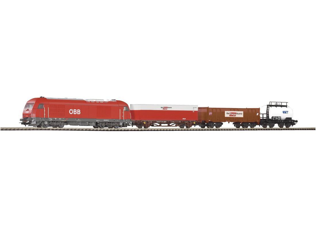 Детская Железная дорога PIKO 96948  Стартовый набор грузовой поезд с тепловозом, масштаб 1/87, H0