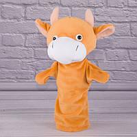 Игрушка рукавичка для кукольного театра Бычок, кукла перчатка на руку