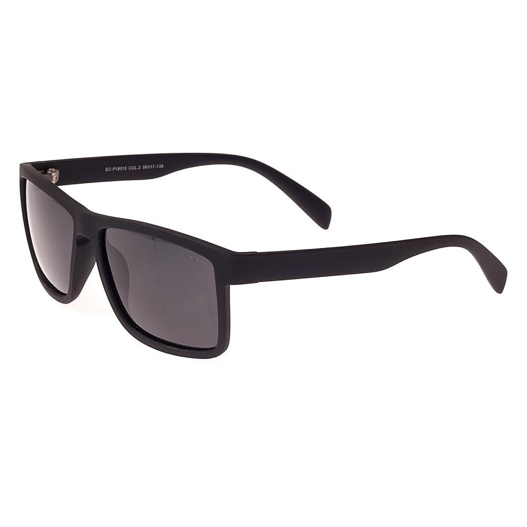 Солнцезащитные очк форма-Прямоугольная Мужские цвет Черный Enrique Cavaldi поляризационная линза ( P18015-02 )