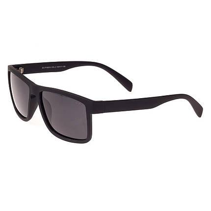 Солнцезащитные очк форма-Прямоугольная Мужские цвет Черный Enrique Cavaldi поляризационная линза ( P18015-02 ), фото 2