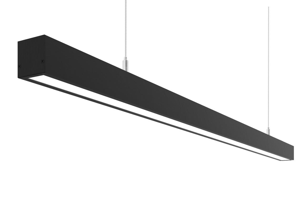 Линейный светодиодный светильник 100 Вт черный, фото 1
