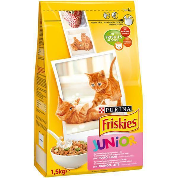 Friskies Junior Kitten сухий корм з куркою, морквою і молоком для кошенят, 1,5 кг