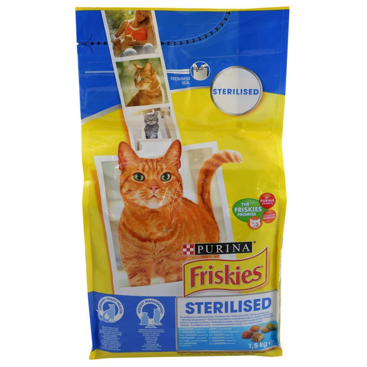 Friskies Sterilised сухий корм для кастрованих котів і стерилізованих кішок, 1,5 кг