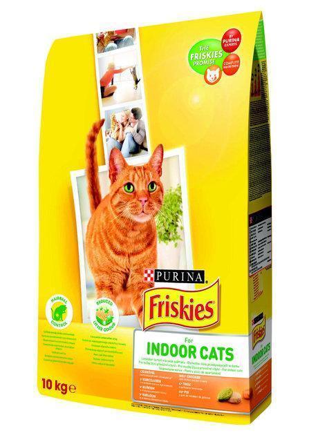 Friskies Indoor сухой корм для кошек, живущих в помещении 10кг