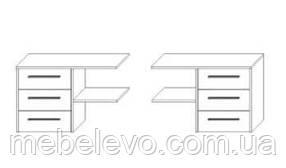 Блок ящиков к шкафу Милана 180 559х876х420мм дуб крафт белый + серый Сокме