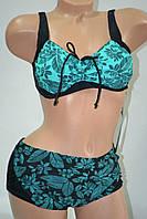 Купальник Fuba вставной поролон без косточки морская флора Зеленый, фото 1