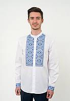 Біла сорочка вишиванка з синьою вишивкою, арт. 4231, фото 1