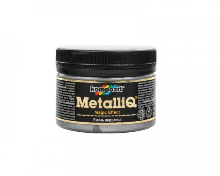 Декоративная акриловая эмаль Kompozit Metalliq 0.1кг (Платина)