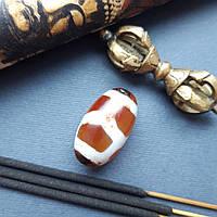 Тибетская бусина Черепаха  Дзи сердолик/долголетие, здоровье
