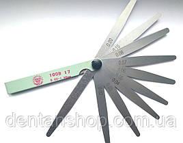 Набор щупов для измерения зазоров Jinghua 100B 17 (0,02-1.00) 17 щупов 100 мм