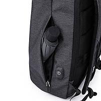 Деловой бизнес-рюкзак для ноутбука и планшета  Kaka 802 ЧЕРНЫЙ, фото 8