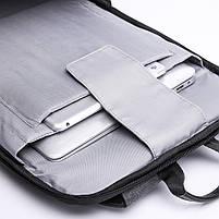 Деловой бизнес-рюкзак для ноутбука и планшета  Kaka 802 ЧЕРНЫЙ, фото 10