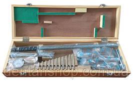 Нутромер с индикатором часового типа KM-DB450 (250-450 мм) с 11 насадками сменными
