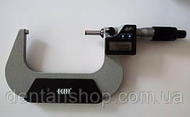 Микрометр цифровой KM-2133-100 / 0.001 (75-100) в водозащищённом металлическом корпусе IP 65
