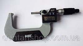 Микрометр цифровой KM-2133-75 / 0.001 (50-75 мм) в водозащищённом металлическом корпусе IP 65