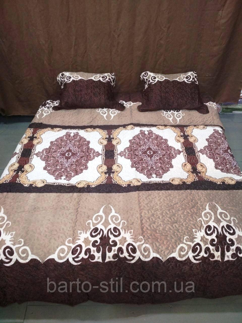 Стеганное покрывало на кровать  220 х 240 + 2 наволочки 50 х 70