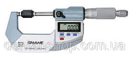 """Микрометр цифровой Shahe 25-50mm / 0-1""""0.001 (5203-50) в водозащищённом металлическом корпусе IP 65"""