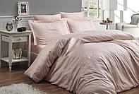 Комплект постельного белья First Сhoice Athena Somon жаккардовый 220*200 см персиковый