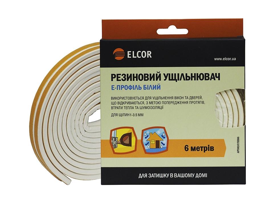 Резиновий ущільнювач E-профіль ELCOR TEEW6 6м білий