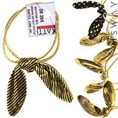 KATTi Резинка для волос 26 265 средняя жгут золотая ушки солоха (1шт) Ш0,3Д6