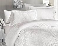 Комплект постельного белья First Сhoice Sofya Krem жаккардовый 220*200 см крем