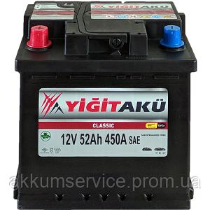 Аккумулятор автомобильный Yigit Aku Classic 52AH L+ 480A