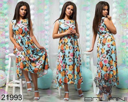 """Красивое женское платье с кружевными вставками ткань """"софт"""" 52 размеры батал, фото 2"""