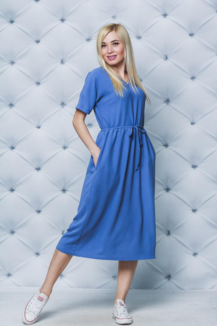 Платье женское на кулиске джинс