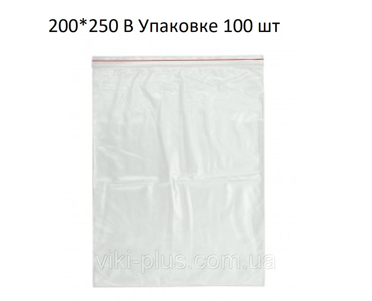 Пакет со струнным замком ZIP-LOC 100шт 200*300