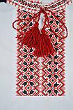 Вышиванка для мальчика с коротким рукавом с красным узором, фото 2