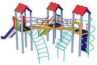 Детский комплекс Три мушкетера, высота горки 1,5 м