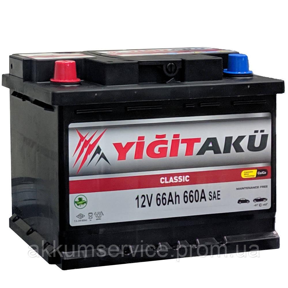Акумулятор автомобільний Yigit Aku Classic 66AH R+ 660A
