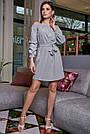 Жіноче повсякденне плаття, сіре, з відкритими плечима, у горох, молодіжне, гламурне, пляжне, романтичне, фото 2