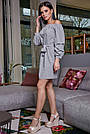 Жіноче повсякденне плаття, сіре, з відкритими плечима, у горох, молодіжне, гламурне, пляжне, романтичне, фото 3