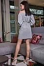 Жіноче повсякденне плаття, сіре, з відкритими плечима, у горох, молодіжне, гламурне, пляжне, романтичне, фото 5