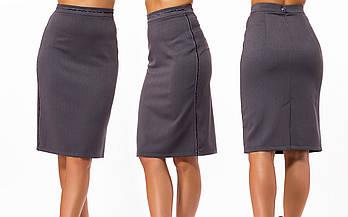 / Размер 42,44,46,48,50 / Женская юбка классическая 23297 / цвет серый