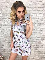 Комбинезон женский с шортами юбка обманка р.с 42 по 48