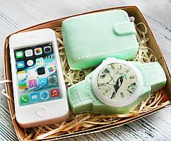 """Мыло ручной работы """"Смартфон, часы, портмоне"""""""