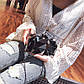 Женский Клатч Сумка Металлический (L-295) Тёмно-Серый, фото 4