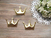 Патч корона из эко-кожи 5,5*3,7 см (золото)