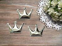 Патч корона из эко-кожи 5,5*3,7 см (серебро)