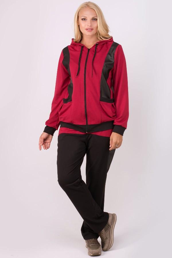 Спортивный костюм Шарлин (бордовый)(54-64)