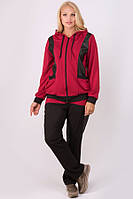 Спортивный костюм Шарлин (бордовый)(54-64), фото 1