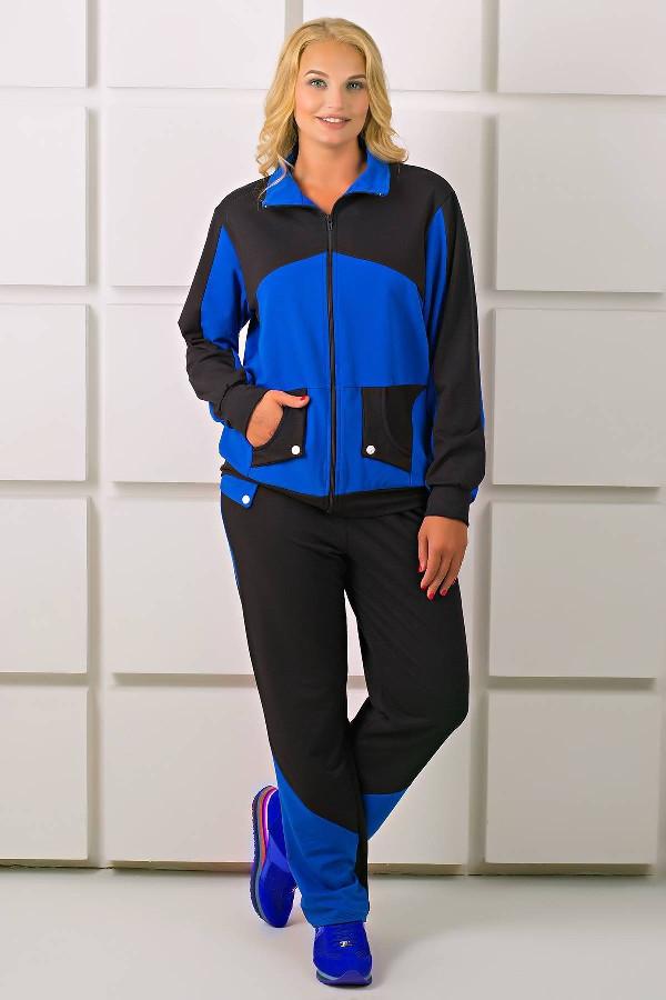 Спортивный костюм Бонита (электрик)(54-64)