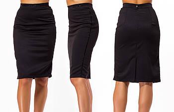 / Размер 42,44,46,48,50 / Женская юбка классическая 23297 / цвет черный